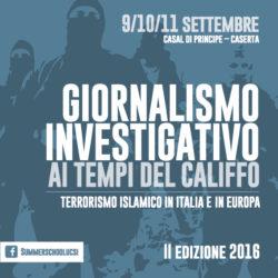 """Ucsi di Caserta, Summer School sul """"Giornalismo investigativo al tempo del Califfo"""""""