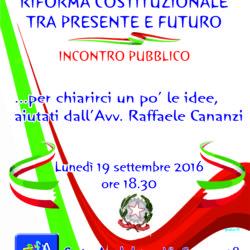 Incontro con Raffaele Cananzi sulla riforma costituzionale, organizzato dal Mieac il 19 settembre a Fuorigrotta