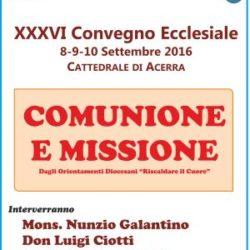 Acerra, dall'8 al 10 settembre il convegno diocesano, presieduto da monsignor Di Donna