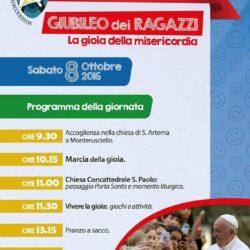 Giubileo diocesano dei Ragazzi sulla Gioia della Misericordia, sabato 8 ottobre a Monterusciello