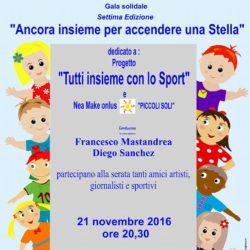 Accendiamo una stella for you, gala solidale al teatro Cilea lunedì 21 novembre