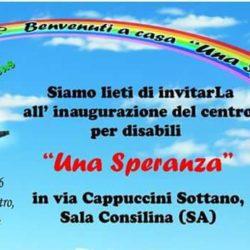 Si avvera il sogno di Una Speranza Onlus, sabato 17 dicembre inaugurazione del nuovo centro per disabili a Sala Consilina