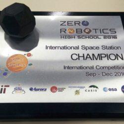 Augusto Righi vince Zero Robotics, primi nel mondo.