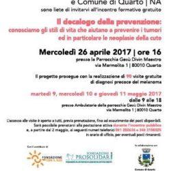 Nel Gesù Divino Maestro di Quarto, dal 9 all'11 maggio l'Ant Italia organizza visite di diagnosi del melanoma