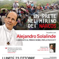 Il sacerdote messicano Solalinde, candidato al premio Nobel per la pace 2017, a Fuorigrotta lunedì 23 ottobre