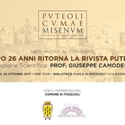 Ritorna la rivista scientifica Pvteoli, presentazione giovedì 26 ottobre nel Palazzo Toledo a Pozzuoli