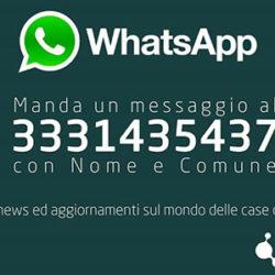 Case dell'acqua: nuovo numero Whatsapp per informazioni agli utenti