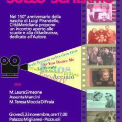 """Convegno a Pozzuoli """"Il palcoscenico sullo schermo"""" nei 150 anni dalla nascita di Luigi Pirandello"""