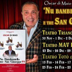 Al Trianon Viviani, dopo vent'anni torna Nu bambeniello e tre san Giuseppe, con Oscar Di Maio