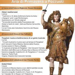 Musica e tradizioni a Pozzuoli. Dall'assessorato alla cultura tre eventi in attesa della Pasqua
