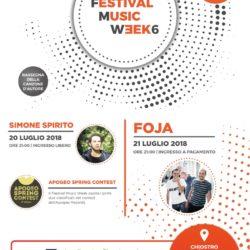 Il 20 e 21 luglio a Vico Equense il Festival Music Week, rassegna della canzone d'autore