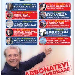 Il direttore artistico Nino D'Angelo presenta il nuovo cartellone del Trianon Viviani. Si parte con Forcella Strit