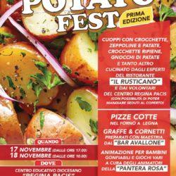 """A Quarto la prima edizione del Potato Festival nel Centro """"Regina Pacis"""". Degustazioni, animazione, serata dancing"""