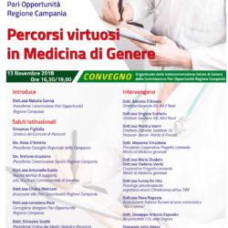 """Convegno """"Percorsi Virtuosi in Medicina di Genere"""", martedì 13 novembre al Rione Terra"""