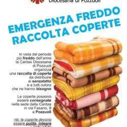 A Pozzuoli raccolta di coperte per i senzatetto dell'area flegrea