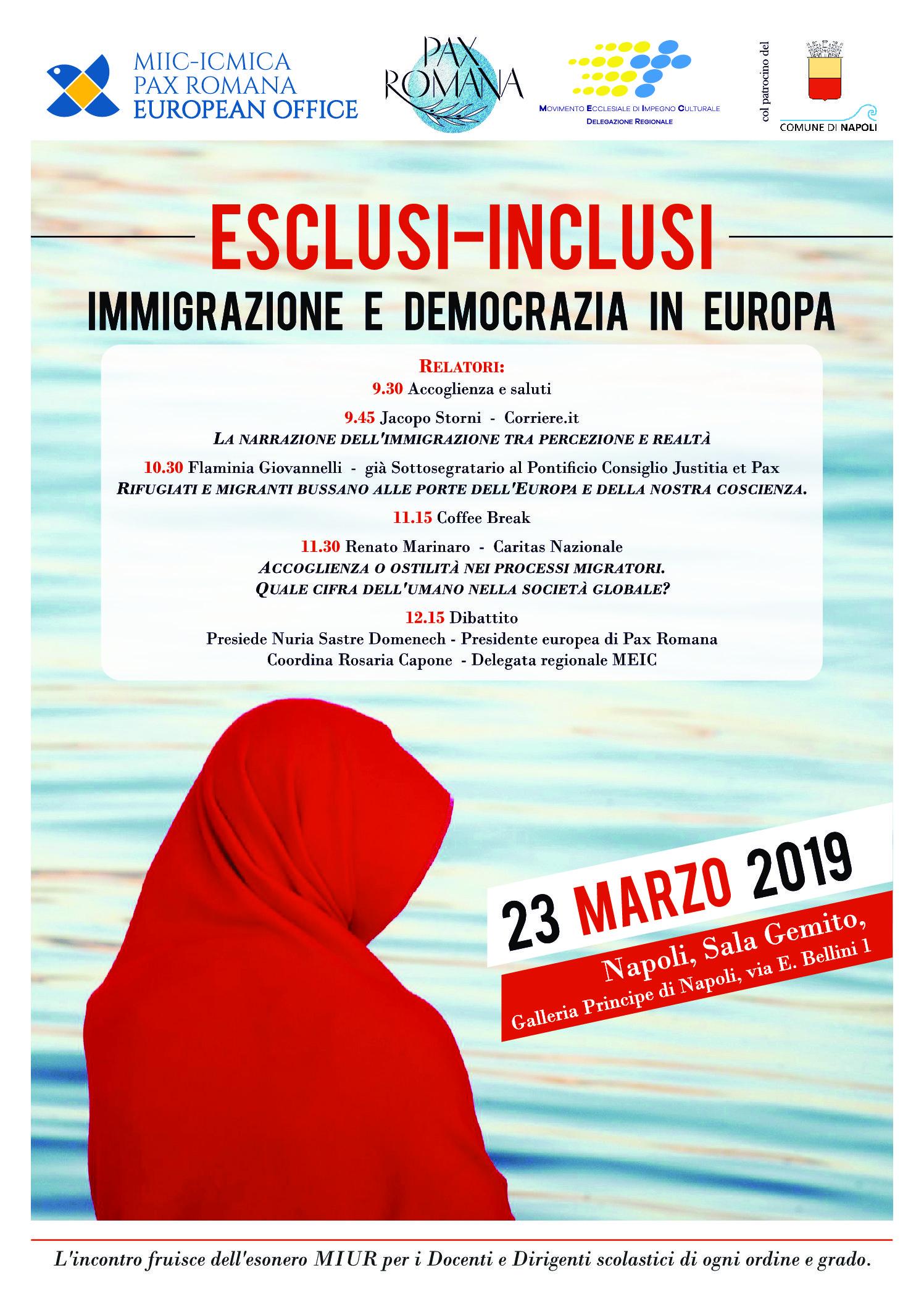 Escusi-inclusi. Immigrazione e Democrazia in Europa. Convegno del Meic a Napoli