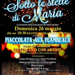 """Fiaccolata aux flambeaux """"Sotto le stelle di Maria"""" a Fuorigrotta"""