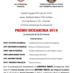"""In memoria di Lia Di Francia il """"Premio Dicearchia"""" nella Residenza storica Villa Avellino, lunedì 3 giugno"""
