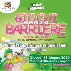 XV edizione di Giochi senza barriere nella Mostra d'Oltremare a Napoli, giovedì 13 giugno