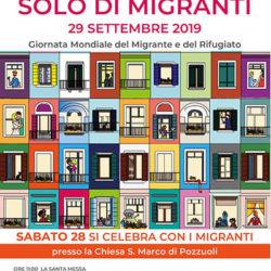 Giornata Mondiale del Migrante, momenti di fratellanza sabato 28 settembre nella chiesa San Marco a Pozzuoli