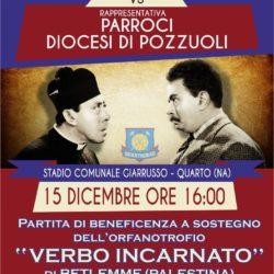 """I sacerdoti della diocesi di Pozzuoli in campo per la solidarietà. Domenica 15 dicembre, stadio """"Giarrusso"""""""
