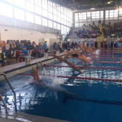 Salvatore Urso sul podio del Campionato Regionale di Nuoto organizzato dal Csi al PalaTrincone verso le ParaOlimpiadi di Tokio 2020