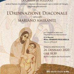 Domenica 26 gennaio, ordinazione diaconale di Mariano Amirante nella Basilica Cattedrale di Pozzuoli
