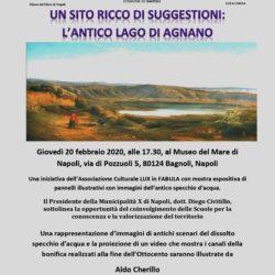 L'antico lago di Agnano. Giovedì 20 febbraio, ricostruzione storica al Museo del Mare di Bagnoli
