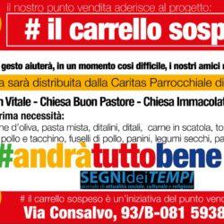 """Spesa sospesa a Fuorigrotta. Iniziativa interparrocchiale in risposta all'appello del Papa: ora è il """"tempo delle scelte"""""""